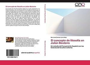 El concepto de filosofía en Julián Besteiro: María del Carmen