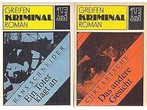 """Büchersammlung """"Greifen-Kriminalromane"""". 7 Titel. 1.) Curt Letsche: Letsche, Curt u."""