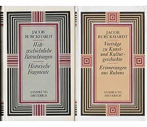 "Konvolut ""Jacob Burckhardt"". 4 Titel. 1.) Jacob: Pillep, Rudolf (Hrsg.)"