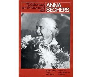 """Konvolut """"Anna Seghers"""". 18 Titel (17 Bücher/Zeitschriften: Seghers, Anna"""