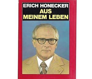 """Konvolut """"Erich Honecker"""". 22 Titel. 1.) Erich Honecker: Aus meinem Leben, 1. Auflage/1980 2.) Erich Honecker zu dramatischen Ereignissen 3.) Hans Krieger über das neue Kursbuch Bruder Honecker 4.) Reinhold Andert; Wolfgang Herzberg: Der St"""