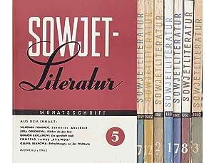 """Zeitschriftensammlung """"Sowjetliteratur"""". 8 Hefte. 1.) Heft 3/1960,: verschiedene Autoren"""