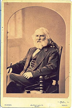 SIGNED CABINET CARD PHOTOGRAPH: LONGFELLOW, Henry Wadsworth