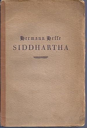 SIDDHARTHA. EINE INDISCHE DICHTUNG: HESSE, Herman