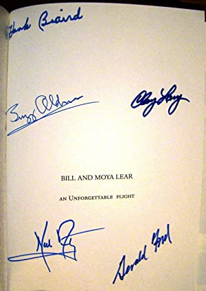 BILL & MOYA LEAR. AN UNFORGETTABLE FLIGHT: ARMSTRONG, Neil; ALDRIN,