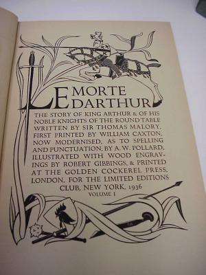 from Le Morte d  Arthur by Sir Thomas Malory Echoes from the Vault   WordPress com