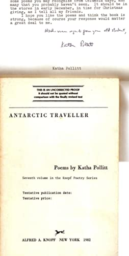 ANTARCTIC TRAVELLER. POEMS