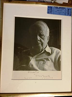 SIGNED PHOTOGRAPH Inscribed to Poet William Meredith