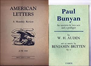PAUL BUNYAN. AN OPERETTA IN TWO ACTS: AUDEN, W. H.