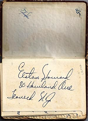 SIGNED PERSONAL ADDRESS BOOK of New York Yankees catcher with many names including Jackie Robinso...