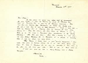 AUTOGRAPH LETTER SIGNED (ALS) TO HIS DAUGHTER