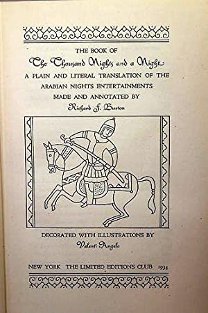 THE BOOK OF A THOUSAND NIGHTS AND A NIGHT. A Plain and Literal Translation of the Arabian Nights ...