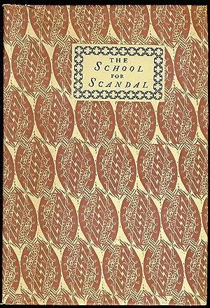 THE SCHOOL FOR SCANDAL. A COMEDY: SHERIDAN, Richard B