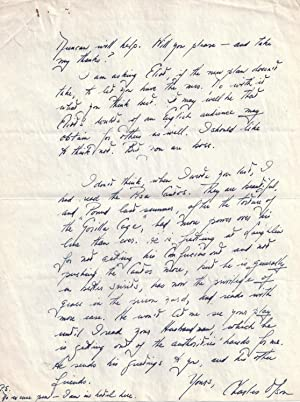AUTOGRAPH LETTER SIGNED (ALS) TO RONALD DUNCAN REGARDING THE IMPENDING PUBLICATION OF HIS FIRST BOOK