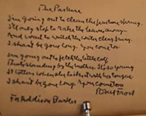 THE POEMS OF ROBERT FROST with AUTOGRAPH MANUSCRIPT POEM
