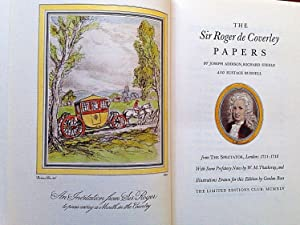 THE SIR ROGER DE COVERLEY PAPERS FROM: ADDISON, Joseph; STEELE,