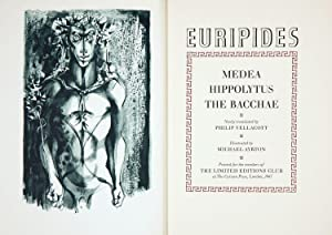 THREE PLAYS OF EURIPIDES: MEDEA, HIPPOLYTUS and THE BACCHAE