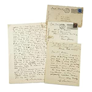 TWO AUTOGRAPH LETTERS SIGNED (ALSs)