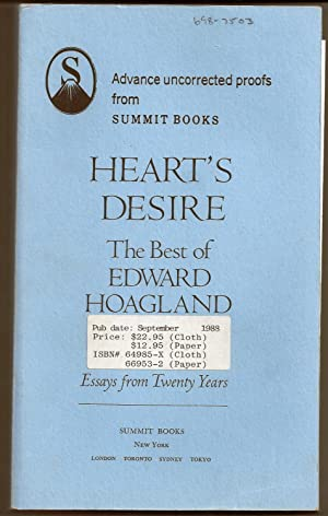 HEART'S DESIRE. THE BEST OF EDWARD HOAGLAND