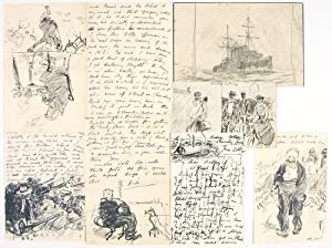 LARGE ARCHIVE OF CORRESPONDENCE WITH MANY ORIGINAL DRAWINGS all to fellow artist ARTHUR BENTLEY C...