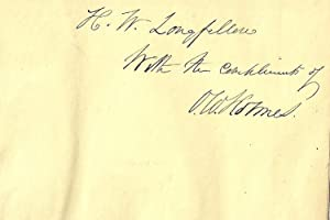 ASTRAEA Inscribed by Holmes to Longfellow