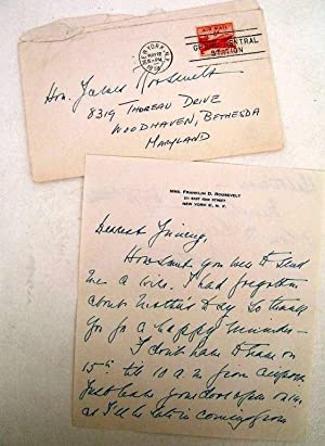 AUTOGRAPHED LETTER SIGNED (ALS) to her son James