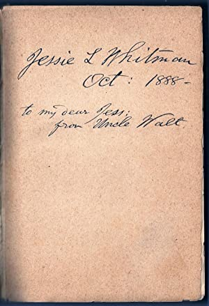 SPECIMEN DAYS IN AMERICA Inscribed by Whitman to his Niece