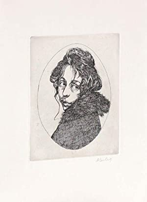 ORIGINAL ETCHING of MAGGIE: A GIRL OF THE STREETS