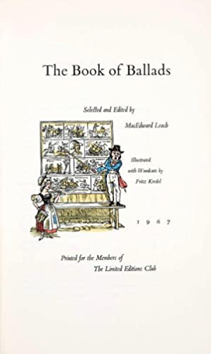 THE BOOK OF BALLADS. The Artist's Copy