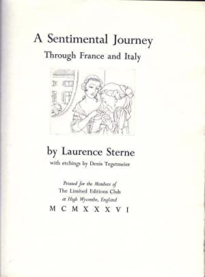 A SENTIMENTAL JOURNEY THROUGH FRANCE AND ITALY: STERNE, Laurence