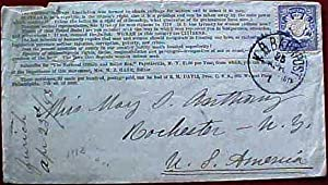 HAND-ADDRESSED ENVELOPE TO HER SISTER