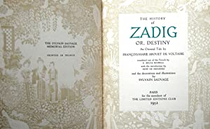 THE HISTORY OF ZADIG, OR DESTINY