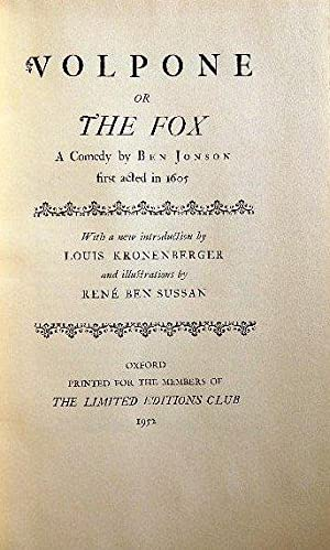VOLPONE, OR THE FOX