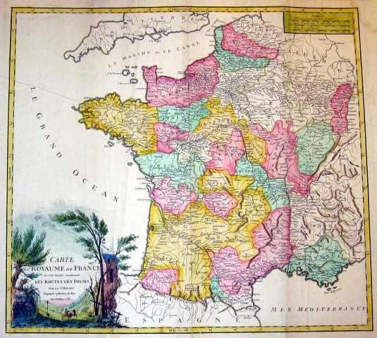 Carte du Royaume de France. by FRANKREICH: Gesamtkarte:: - Kunsthandlung Goyert