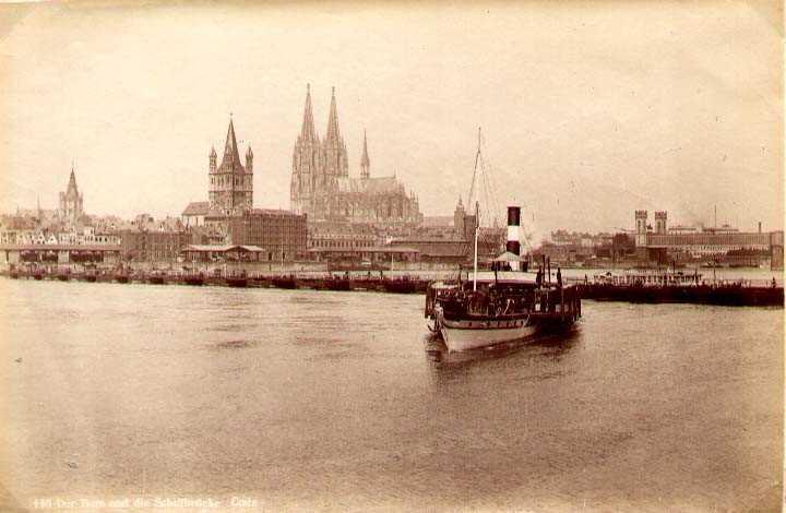 116 Der Dom und die Schiffbrücke Coeln.