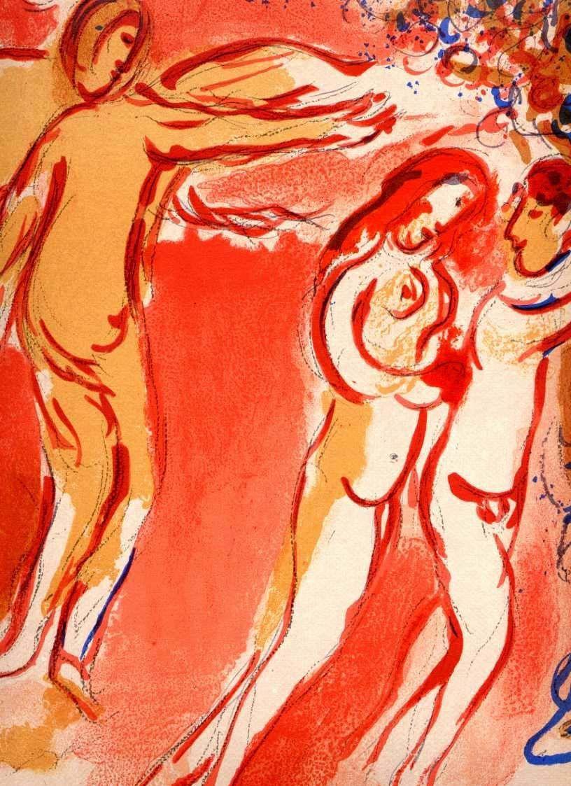 Adam und Eva - Vertreibung aus dem: CHAGALL, Marc (1887