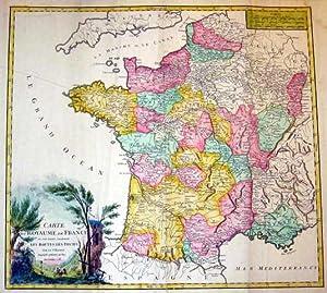 Carte du Royaume de France.: FRANKREICH: Gesamtkarte: