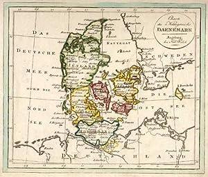 Charte des Königreichs Dänemark.: SKANDINAVIEN: Dänemark: