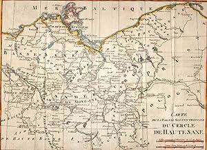 Carte de la Partie Septentrionale du Cercle de Haute Saxe.: MECKLENBURG-VORPOMMERN: