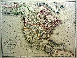 Carte de L Amérique septentrionale.: AMERIKA: Nordamerika: