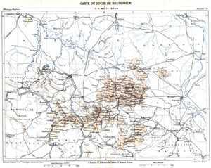 Carte du Duché de Brunswick.: NIEDERSACHSEN: Braunschweig: