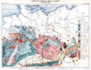 Carte Géologique de l'Empire Allemagne.: DEUTSCHLAND: