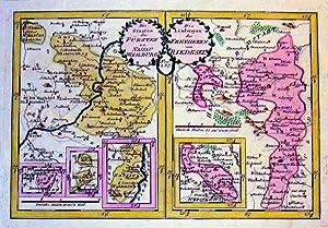 Die Staaten des Fürsten zu Nassau Weilburg - Die Ländereyen des Freyherrn von Riedesel.: HESSEN: ...