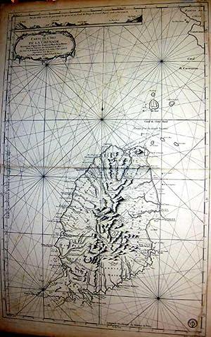 Carte de L'Isle de la Grenade.: AMERIKA: Mittelamerika / Westindische Inseln: