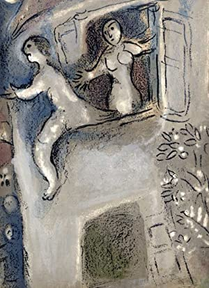 Michal rettet David.: CHAGALL, Marc (1887 - 1985),