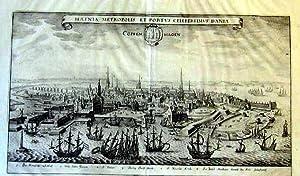 "Kopenhagen "" Hafnia Metropolis et Portvs Celeberrimvs Daniae - Coppenhagen "".: SKANDINAVIEN..."
