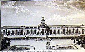 Prospect der Bilder=Gallerie im Königlichen Garten Sans-Soucy bei Potsdam.: POTSDAM: Sanssouci: