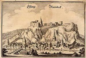 Gesamtansicht mit Burg Randeck.: ESSING: