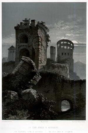 Der gesprengte Thurm zu Heidelberg.: HEIDELBERG: