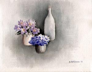 Anémones mauves.: ANTONINI, Annapia geboren 1942,